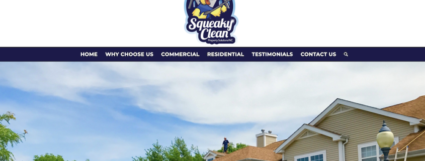 Squeaky Clean Property Solutions Designs Their New Website